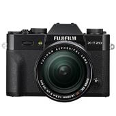 A picture of Fujifilm X-T20 Mirrorless Camera in Black with XF18-55mm f/2.8-4.0 R OIS Lens