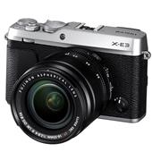 A picture of Fujifilm X-E3 Mirrorless Camera in Silver with XF18-55mm f/2.8-4.0 Lens