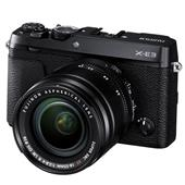 A picture of Fujifilm X-E3 Mirrorless Camera in Black with XF18-55mm f/2.8-4.0 Lens