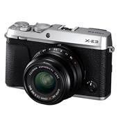 A picture of Fujifilm X-E3 Mirrorless Camera in Silver with XF23mm f/2 R WR Lens - Ex Display