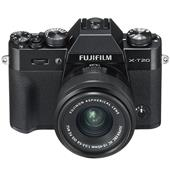 A picture of Fujifilm X-T20 Mirrorless Camera in Black with XC15-45mm f/3.5-5.6 OIS PZ Lens