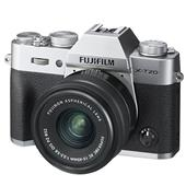 A picture of Fujifilm X-T20 Mirrorless Camera in Silver with XC15-45mm f/3.5-5.6 OIS PZ Lens