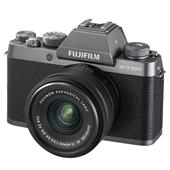 A picture of Fujifilm X-T100 Mirrorless Camera in Dark Silver + XC15-45mm lens