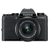 A picture of Fujifilm X-T100 Mirrorless Camera in Black + XC15-45mm lens