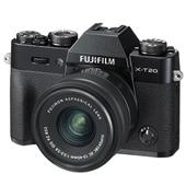 A picture of Fujifilm X-T20 Mirrorless Camera in Black with XC15-45mm Lens and XC50-230mm f/4.5-6.7 OIS II Lens