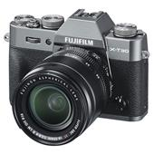 A picture of Fujifilm X-T30 Mirrorless Camera in Charcoal with XF18-55mm Lens