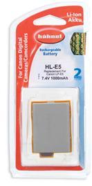 A picture of Hahnel HL-E5 Battery (Canon LP-E5)