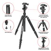 A picture of Manfrotto Elements Tripod Big  Black with Ball Head