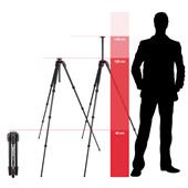 A picture of Manfrotto 190 Go! Aluminium M Series 4 Section Tripod with Free 391RC2 Head