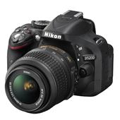 A picture of Nikon D5200 Digital SLR in Black with 18-55mm VR II Lens