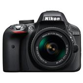 A picture of Nikon D3300 Digital SLR in Black + 18-55mm f/3.5-5.6 AF-P VR Lens