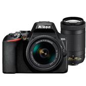 A picture of Nikon D3500 Digital SLR with AF-P 18-55mm and 70-300mm Non-VR Lenses