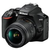 A picture of Nikon D3500 Digital SLR in Black + 18-55mm AF-P and 70-300mm Non-VR Lenses