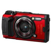 A picture of Olympus Tough TG-6 Digital Camera in Red - Ex Display