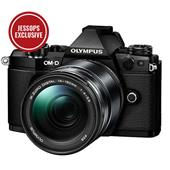 A picture of Olympus OM-D E-M5 Mark II Compact System Camera in Black with 14-150mm Lens