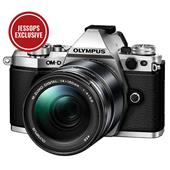 A picture of Olympus OM-D E-M5 Mark II Compact System Camera in Silver with 14-150mm Lens - Ex Display
