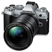 A picture of Olympus OM-D E-M5 Mark III Mirrorless Camera in Silver with 12-200mm Lens - Ex Display