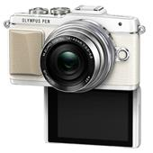 A picture of Olympus PEN E-PL7 Compact System Camera in White with 14-42mm EZ Lens - Ex Display