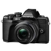A picture of Olympus OM-D E-M10 Mark III Mirrorless Camera in Black + 14-42mm R Lens