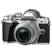 A picture of Olympus OM-D E-M10 Mark III Mirrorless Camera in Silver with 14-42mm R Lens