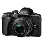 A picture of Olympus OM-D E-M10 Mark III Mirrorless Camera in Black with 14-42mm and 40-150mm R Lenses