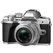 A picture of Olympus OM-D E-M10 Mark III Mirrorless Camera in Silver with 14-42mm and 40-150mm R Lenses