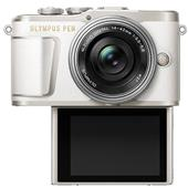A picture of Olympus PEN E-PL9 Mirrorless Camera in White with 14-42mm EZ Lens