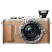 A picture of Olympus PEN E-PL9 Mirrorless Camera in Brown with 14-42mm EZ Lens
