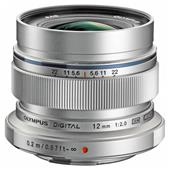 A picture of Olympus M.Zuiko Digital ED 12mm f/2.0 Lens in Silver