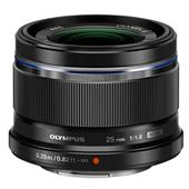 A picture of Olympus M.Zuiko Digital 25mm f/1.8 Lens in Black