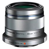 A picture of Olympus 45mm f/1.8 Micro Four Thirds Lens in Silver