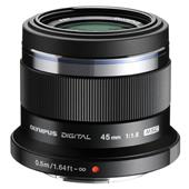 A picture of Olympus 45mm f/1.8 Micro Four Thirds Lens in Black