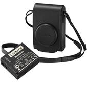 A picture of Panasonic TZ100KIT-LE-K Black Leather Case and Battery Kit