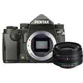 A picture of Pentax KP Digital SLR in Black with HD DA 18-50mm WR Lens