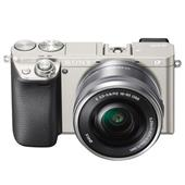 A picture of Sony A6000 Mirrorless Camera in Silver + 16-50mm Power Zoom Lens