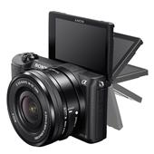 A picture of Sony A5100 Compact System Camera in Black with 16-50mm Power Zoom Lens