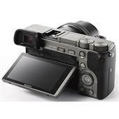 A picture of Sony A6000 Mirrorless Camera in Grey with 16-50mm Power Zoom Lens
