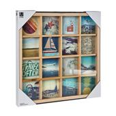 A picture of Umbra Grid Art Photo Display Multi 160P Natural Frame