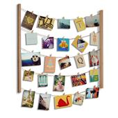 A picture of Umbra Hangit Photo Display Natural Frame