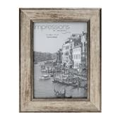 """A picture of Widdop Impressions Tarnished Pewter Look 5 x 7"""" Photo Frame"""