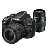 A picture of Nikon D3200 + 18-55mm VR II Lens + Tamron 70-300mm Lens