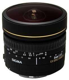 Sigma 8mm f/3.5 EX DG Circular Fisheye (Canon AF)