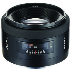 Sony 50mm f/1.4 A Standard Lens