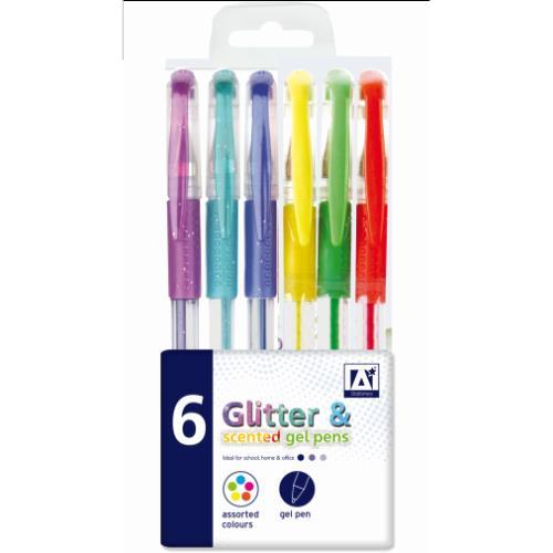 Anker 6 Scented Glitter Gel Pens