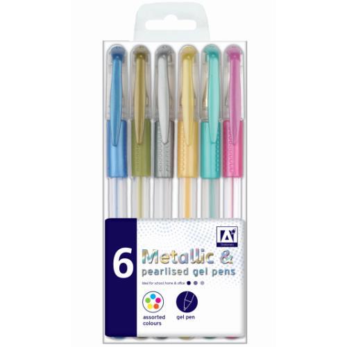 Anker 6 Metallic & Pearlised Gel Pens