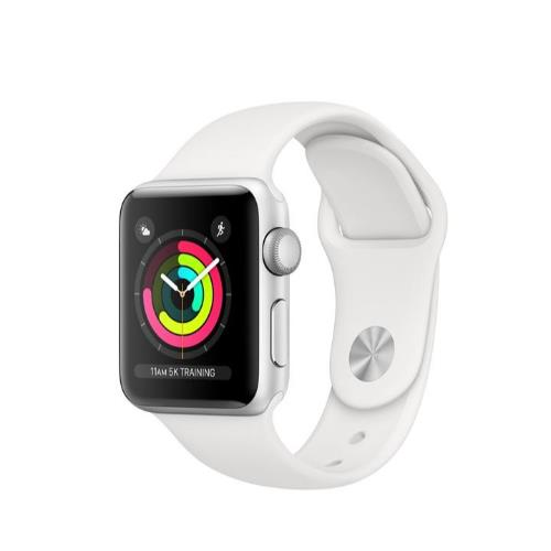 Apple Watch Series 3 GPS in Silver with White Sport Band 38mm
