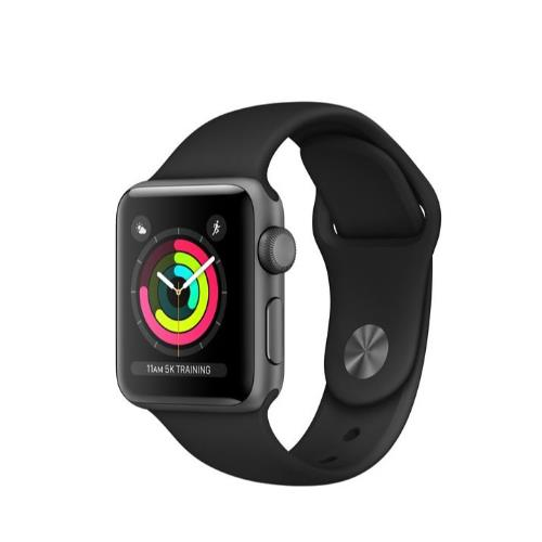 Apple Watch Series 3 GPS in Space Grey with Black Sport Band 38mm