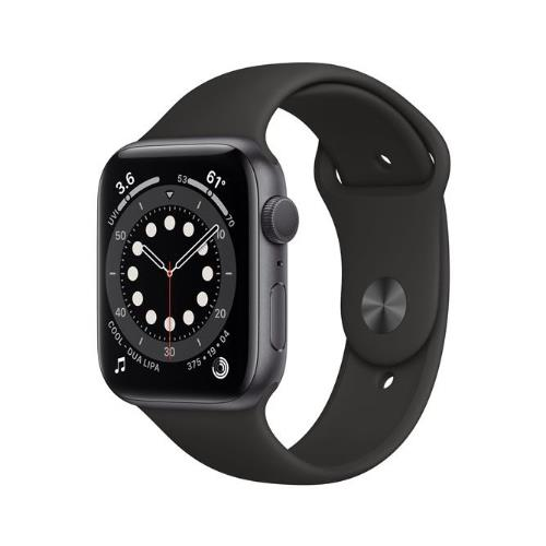 Apple Watch Series 6 GPS in Space Grey with Black Sports Band 40mm