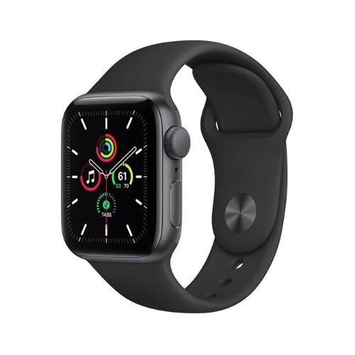 Apple Watch SE GPS in Space Grey with Black Sport Band 40mm