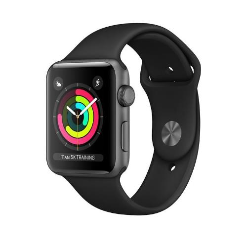 Apple Watch Series 3 GPS in Space Grey with Black Sport Band 42mm